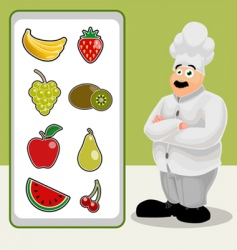 cook with fruit vector image