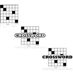 Crossword icons vector image vector image