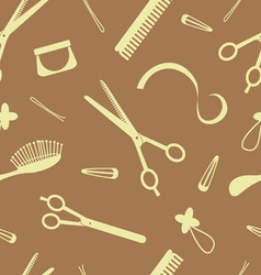 hairdressing pattern vector image vector image