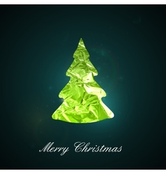 Holiday of a green metallic foil Christmas t vector image vector image