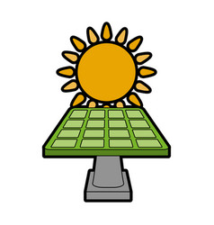 Solar panel eco friendly related icon image vector
