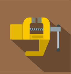 yrllow vise tool icon flat style vector image