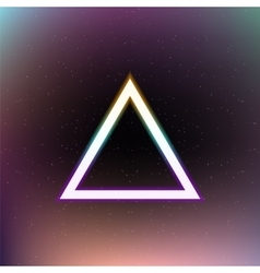 Abstract triangle in space vector image vector image