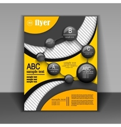 flyer design or booklet with elements of vector image