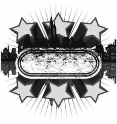 grunge disco banner vector image