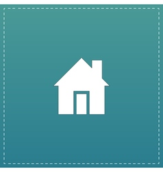 retro style home icon isolated vector image