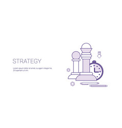 strategy planning business concept template web vector image