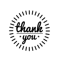 Thank you vintage label vector image