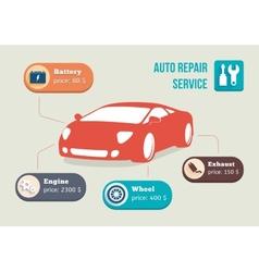 car information vector image vector image