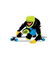 Street Luge Cartoon vector image
