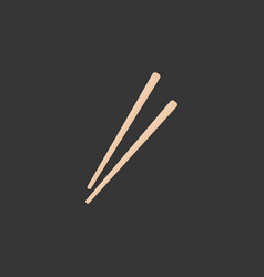 chopsticks flat icon vector image vector image