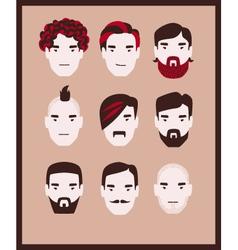 guy barber kit vector image