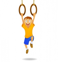 gymnastic rings vector image vector image