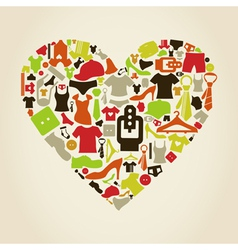 Heart clothes2 vector image vector image