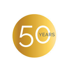 50th anniversary gold banner template fiftieth vector image