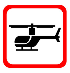 A helicopter icon on a white background vector