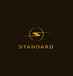 a logo with initials letter s modern vector image