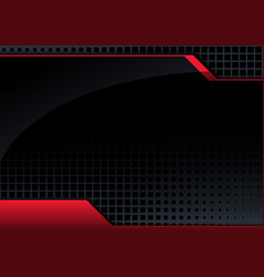 abstract tech background with red 3d lines vector image