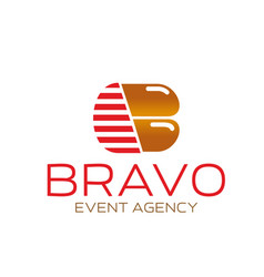 b letter icon for event agency vector image