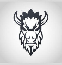 Bison logo icon design vector