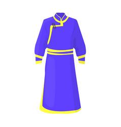 Blue bathrobe mongoliansfragment nominalnog vector