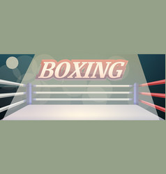 boxing ring concept banner cartoon style vector image