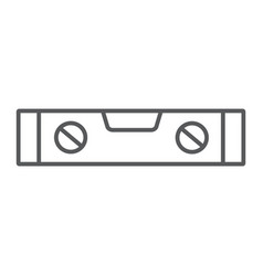 Bubble level tool thin line icon tool and measure vector