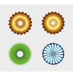 Business abstract symbol template set with circle vector