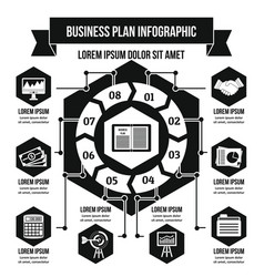 Business infographic concept simple style vector