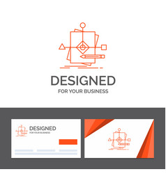business logo template for algorithm business vector image