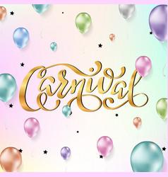 carnival lettering design vector image
