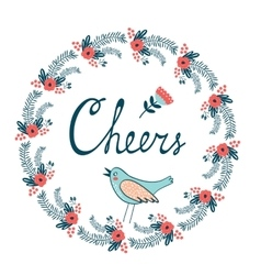 Cheers stylish concept card vector