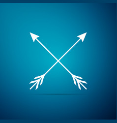 Crossed arrows icon isolated on blue background vector