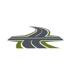 Crossroad symbol for transportation design vector image