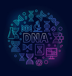 Dna colorful round or symbol vector