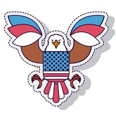 Eagle american isolated icon vector