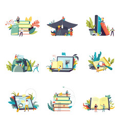 Education and study learning icons vector