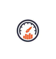 Efficiency performance icon vector