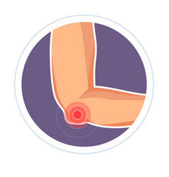 Elbow injury isolated icon hand or arm vector
