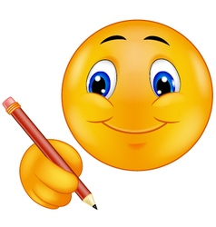 Emoticon writing vector image