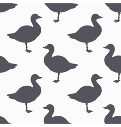 Farm bird silhouette seamless pattern goose meat vector
