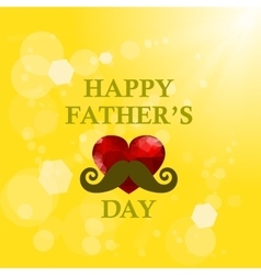 Fathers Day Banner on Yellow Summer Background vector