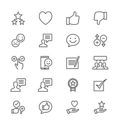 Feedback and review thin icons vector