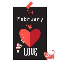 Festive beautiful poster for Valentines Day vector