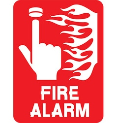 Fire Alarm Sign Icon vector image
