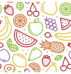 Fruits seamless pattern on white vector