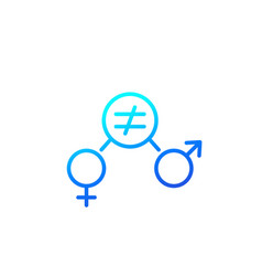 gender equity icon outline vector image