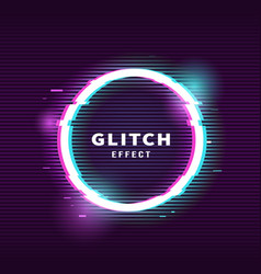 glitch effect for frame vector image