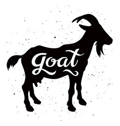 goat silhouette 002 vector image