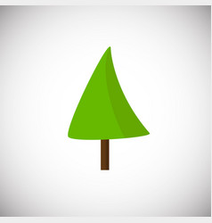 Green flat tree on white background vector